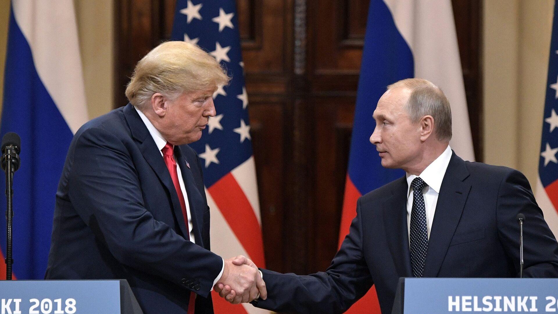 Президент РФ Владимир Путин и президент США Дональд Трамп в Хельсинки - РИА Новости, 1920, 31.08.2020