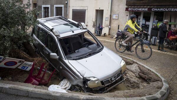 Последствия наводнения на юге Франции
