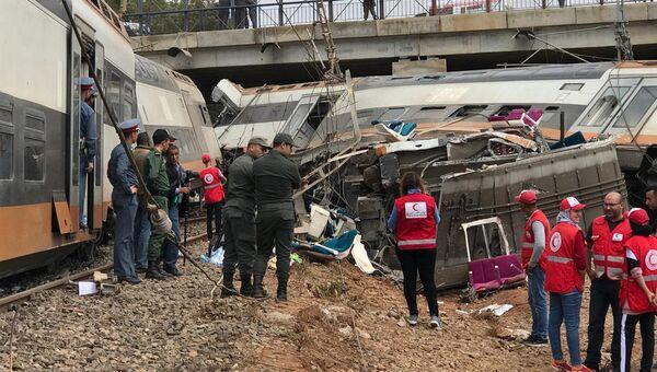 Крушение поезда в Марокко