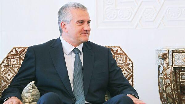 Глава Республики Крым Сергей Аксенов во время встречи с президентом Сирийской арабской республики Башаром Асадом в Дамаске. Архивное фото