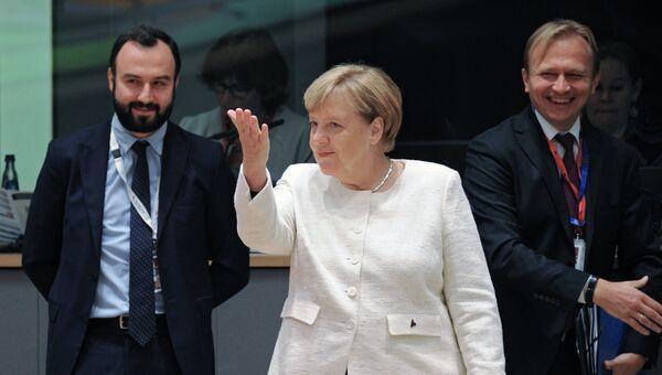 Канцлер Германии Ангела Меркель на саммите ЕС в Брюсселе. 18 октября 2018