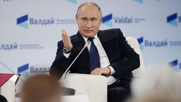 Президент РФ Владимир Путин на заседании клуба Валдай в Сочи