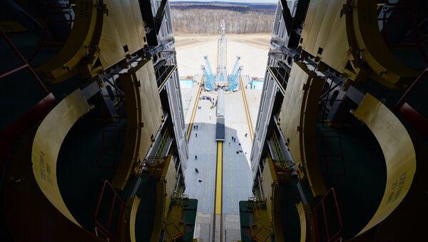 Стартовый стол космодрома Восточный. Архивное фото