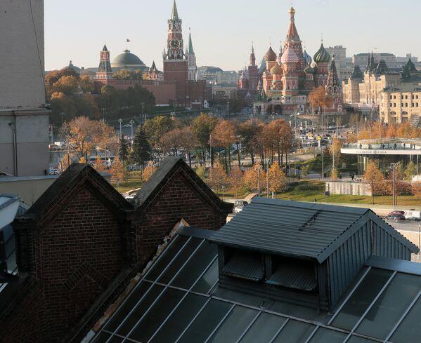 Вид на Кремль с крыши