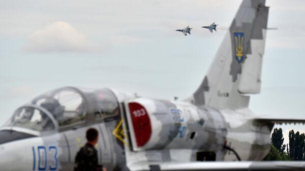 Истребители МиГ-29 на военной базе ВВС Украины