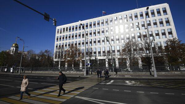Вид на здание Министерства внутренних дел РФ на Житной улице в Москве