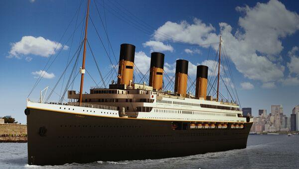 Эскиз лайнера Титаник II