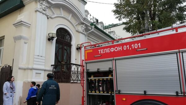 Пожар на территории роддома в Ростове-на-Дону. 25 октября 2018