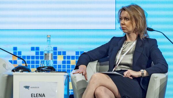 Генеральный директор ООО Газпром экспорт Елена Бурмистрова на XI Евразийском экономическом форуме в Вероне