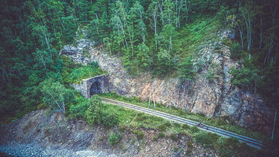 КБЖД. Портал тоннеля №1 со стороны станции Байкал