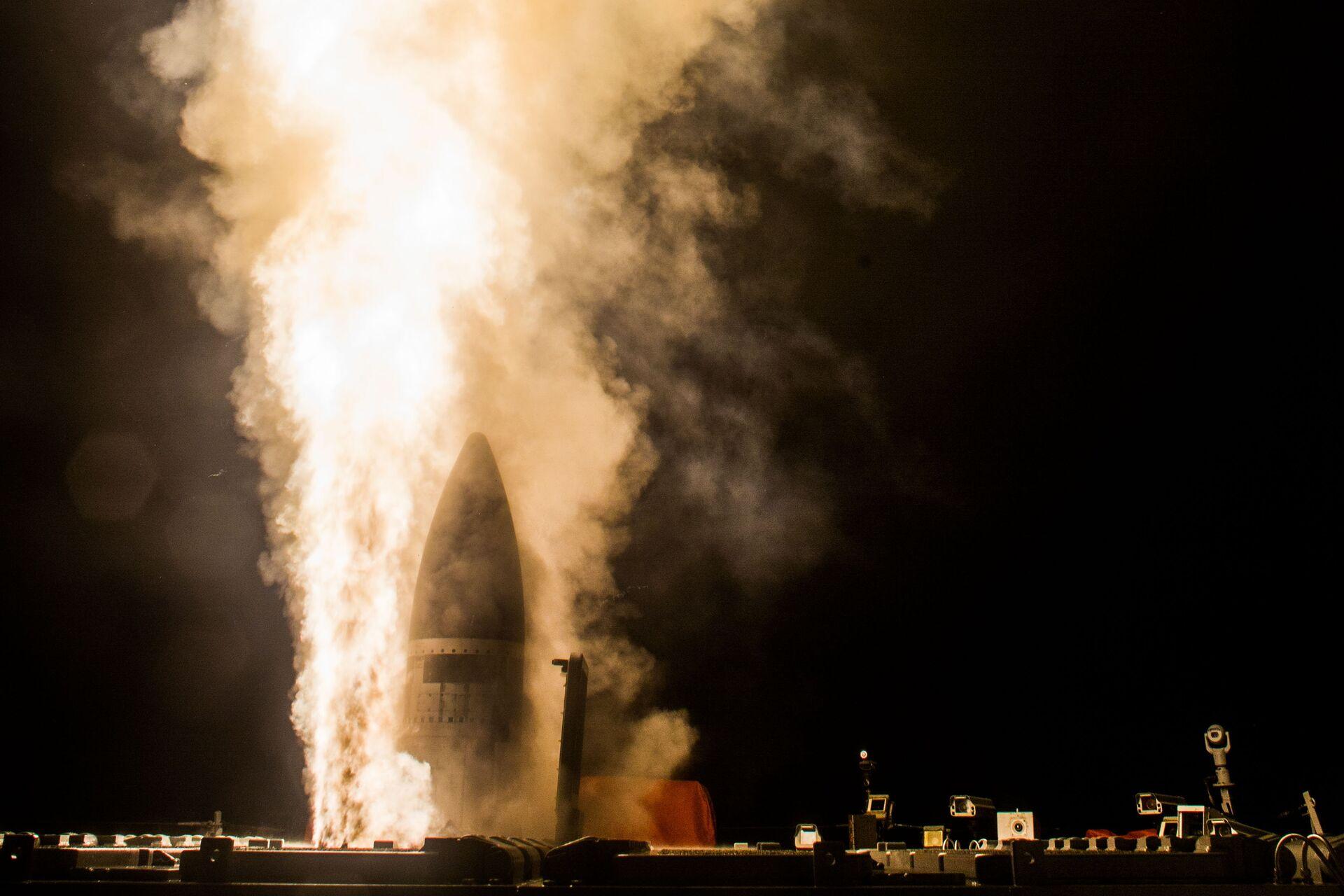 Запуск американской противоракеты SM-3 Block IIA - РИА Новости, 1920, 24.11.2020