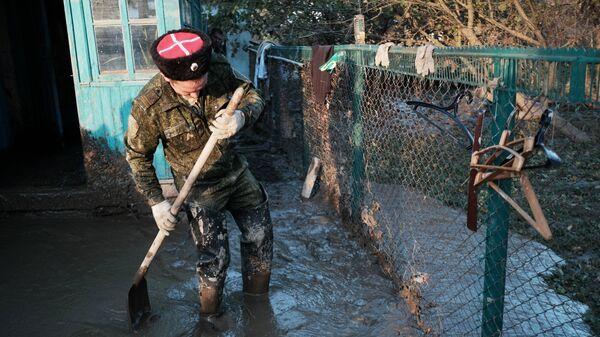 Устранение последствий наводнения в станице Кабардинская