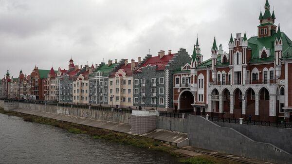 Набережная Брюгге у реки Малая Кокшага в Йошкар-Оле