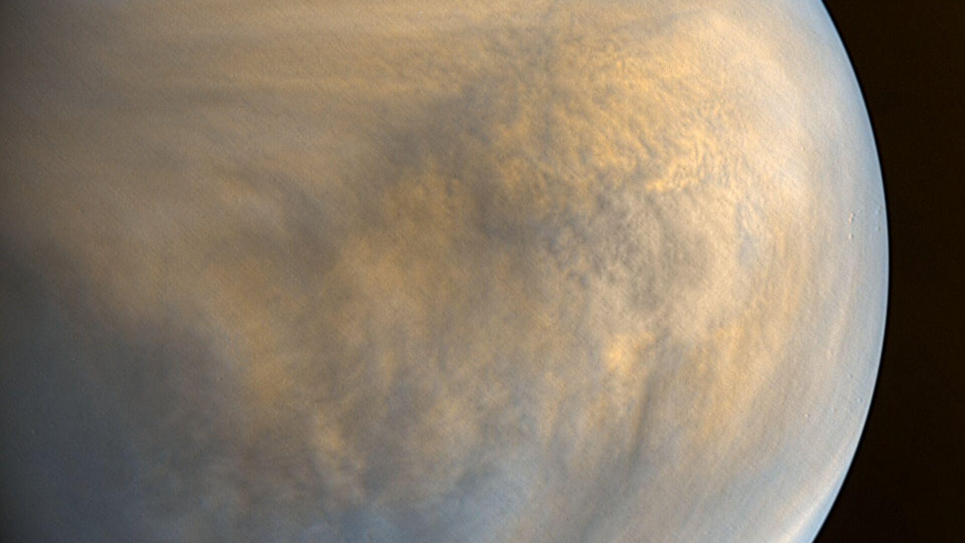 Фотография Венеры в оптическом и ультрафиолетовом диапазоне, полученная камерами зонда Акацуки - РИА Новости, 1920, 14.09.2020
