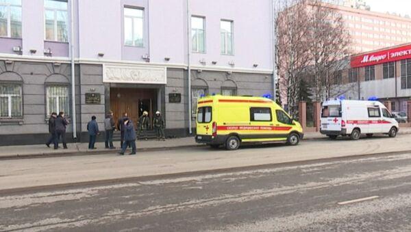 Кадры с места взрыва у здания ФСБ в Архангельске
