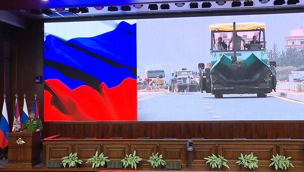 Официальный представитель министерства обороны РФ генерал-майор Игорь Конашенков во время брифинга о процессе мирного урегулирования в Сирии. 31 октября 2018