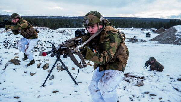 Военнослужащие Вооруженных сил Норвегии во время совместных учений НАТО Trident Juncture 2018. Архивное фото
