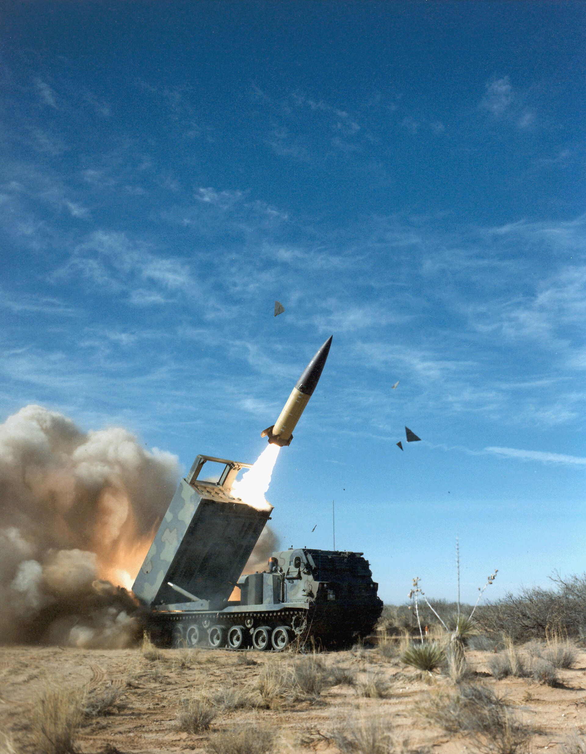 Американский оперативно-тактический ракетный комплекс MGM-140 ATACMS с баллистической ракетой малой дальности - РИА Новости, 1920, 24.05.2021