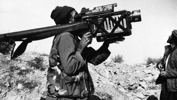 Моджахед с ПЗРК Стингер в Афганистане