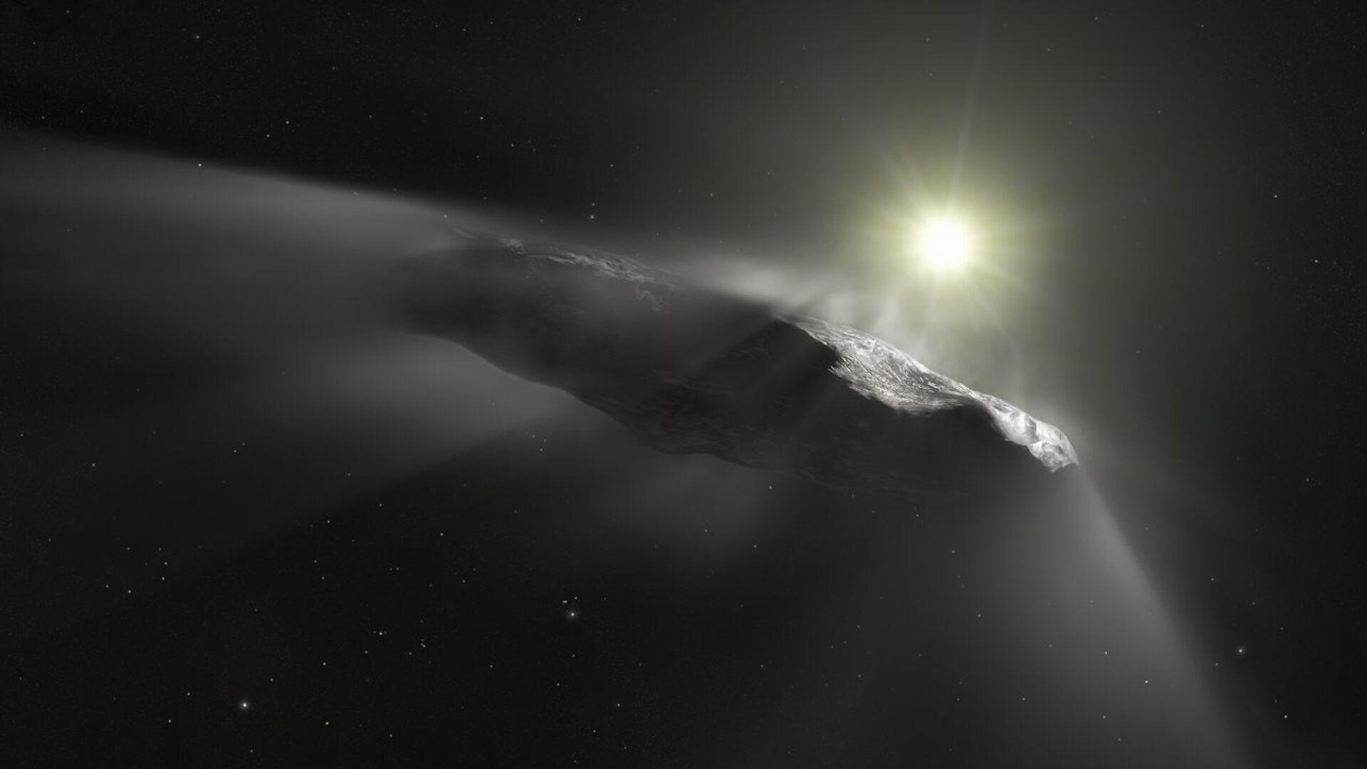 Так художник изобразил межзвездный астероид Оумуамуа - РИА Новости, 1920, 19.10.2020