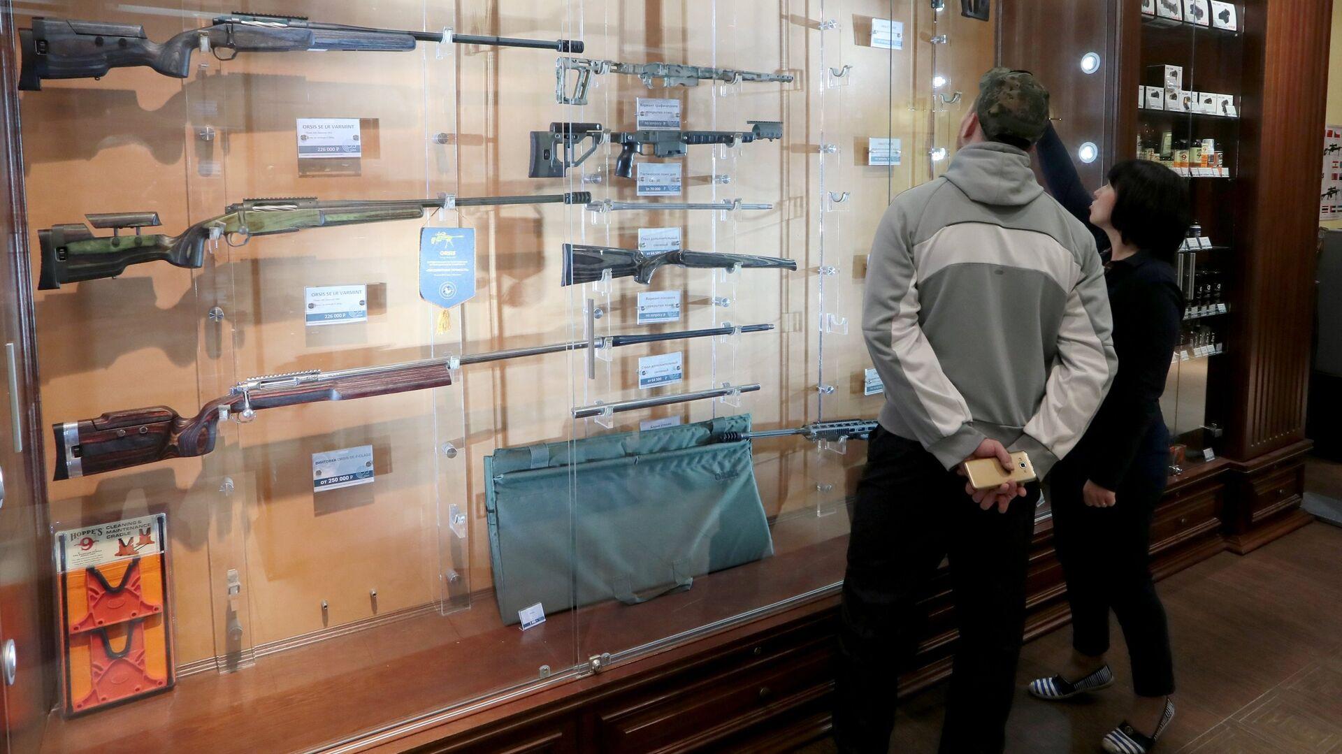 Оружейный магазин в Москве - РИА Новости, 1920, 12.05.2021
