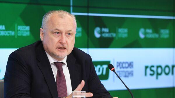 Генеральный директор Российского антидопингового агентства Юрий Ганус на пресс-конференции. 9 ноября 2018