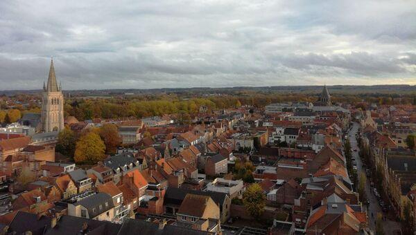 Вид на места сражений в Ипре, Бельгия