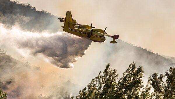 Тушение лесных пожаров в Калифорнии, США. Архивное фото