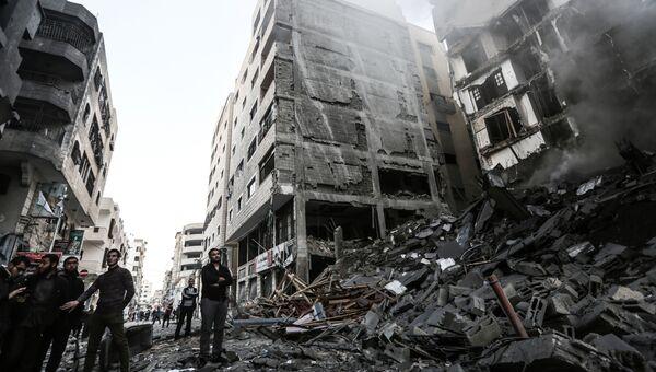Последствия воздушных ударов по сектору Газа. 13 ноября 2018