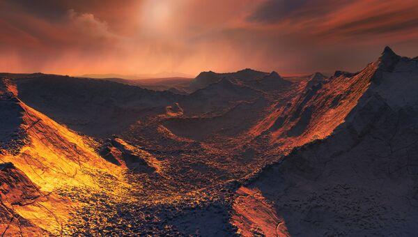 Так художник представил себе планету, открытую у звезды Барнарда