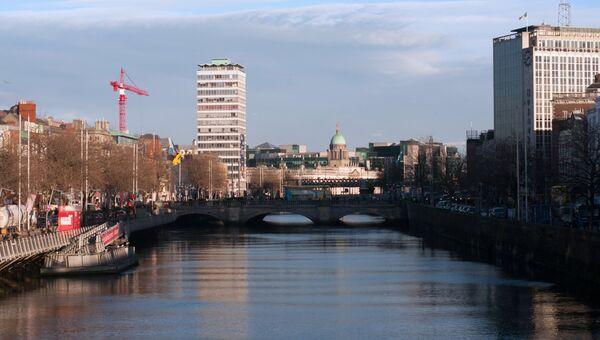 Река Лиффи в городе Дублин