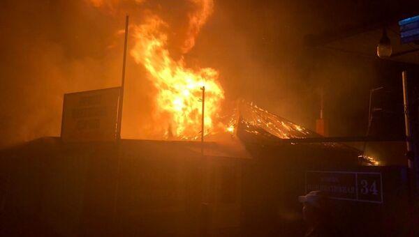 Пожар в Люберцах на улице Иницииативная. 14 ноября 2018