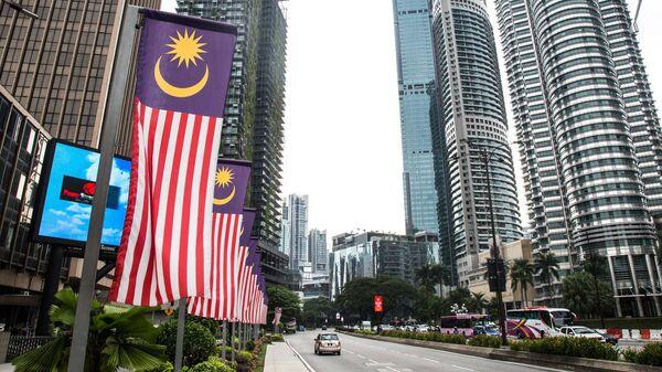 Одна из улиц города Куала-Лумпур