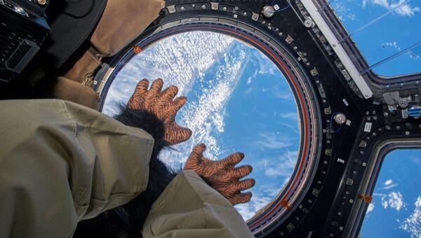 Празднование Дня смеха на борту МКС