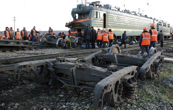 РЖД считает причиной аварии на Транссибе человеческий фактор