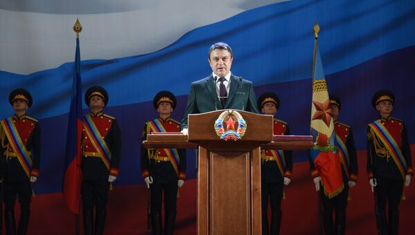 Глава Луганской народной республики Леонид Пасечник. Архивное фото