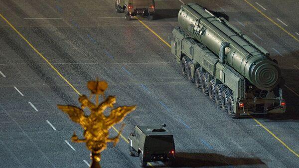Пусковая установка подвижного грунтового ракетного комплекса Тополь-М