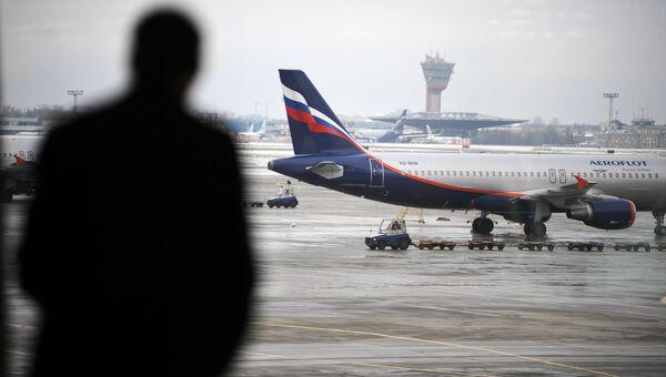 Вид на летное поле аэропорта Шереметьево. Архивное фото