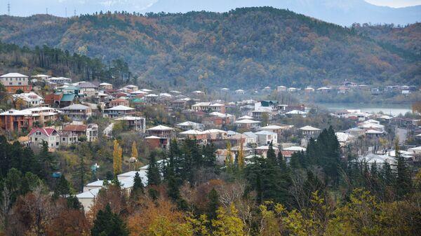 Вид на Кутаиси с холма Укимериони