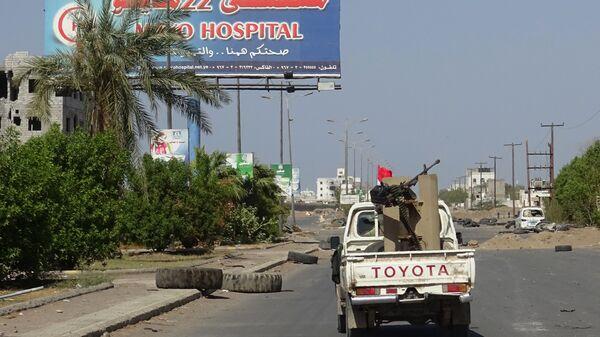 Проправительственные войска на окраине города Ходейда, Йемен