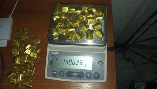 Золото, изъятое у граждан Китая на читинской таможне