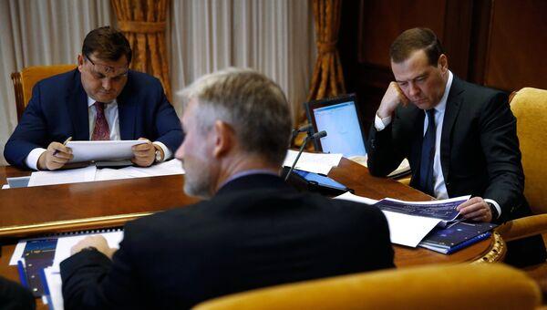 Председатель правительства РФ Дмитрий Медведев проводит совещание о цифровой трансформации транспортного комплекса.  23 ноября 2018
