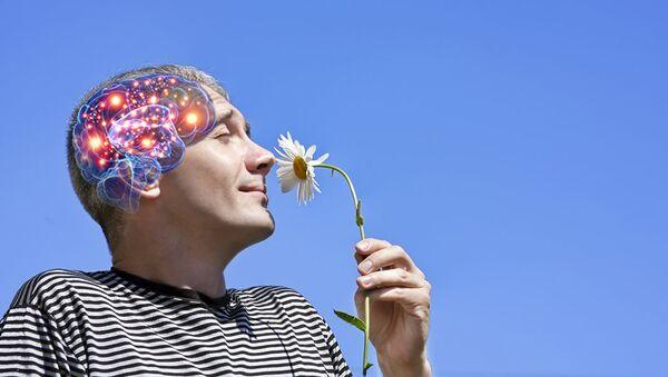 Мужчина и цветок