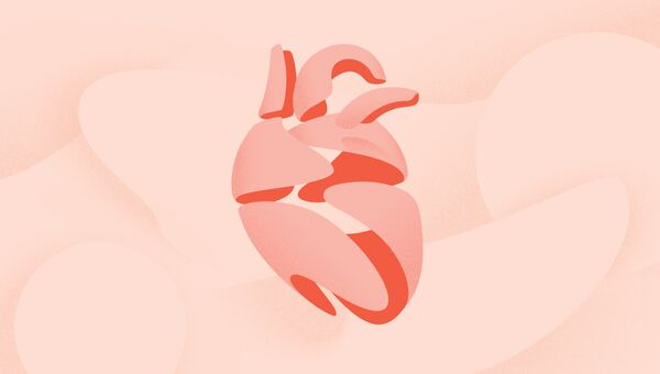 Так художник представил себе сердечные клетки, объединенные искусственное сердце