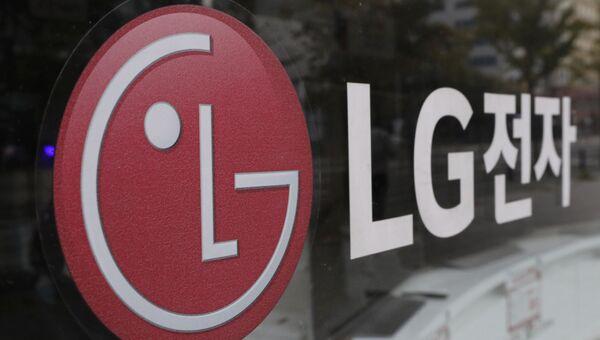 Логотип компании LG Electronics в Сеуле, Южная Корея. Архивное фото