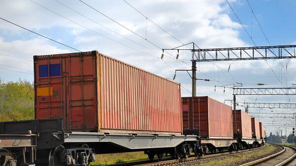 Поезд с контейнерами