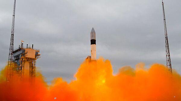 Пуск ракеты-носителя Рокот с космодрома Плесецк