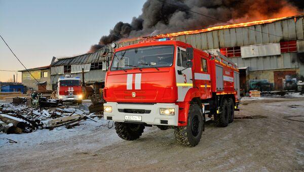 Пожар на складе в Саранске. 30 ноября 2018