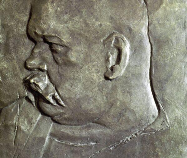 Портрет писателя Владимира Гиляровского работы скульптора Ивана Шадра