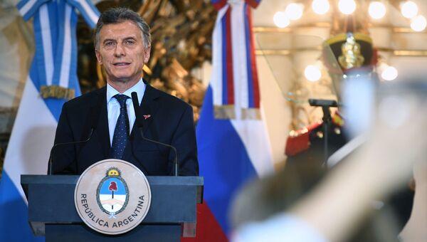 Президент Аргентины Маурисио Макри на пресс-конференции по итогам российско-аргентинских переговоров. 1 декабря 2018